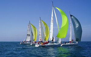 EDHEC Sailing Cup - Grand Surprise boats at race during the 37th Edition in Les Sables d'Olonne.