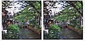 3D photo-cross view,kyoto takase river(立体写真-交差法、高瀬川) - panoramio.jpg