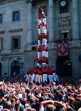 La Mercè - Castellers de Barcelona during La Mercè 2001.