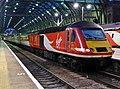 43315 London Kings Cross to Newcastle 1N35 at Kings Cross platform 6 (33988052764).jpg