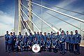 438 band Champlain bridge opening ceremony.jpg