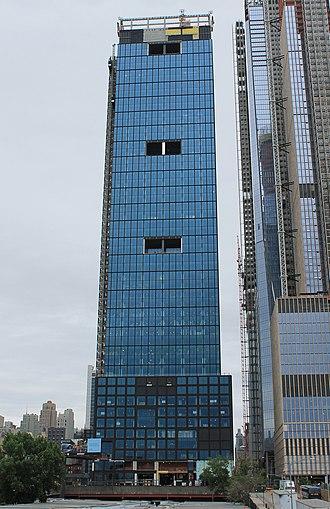 55 Hudson Yards - Construction progress in June 2018