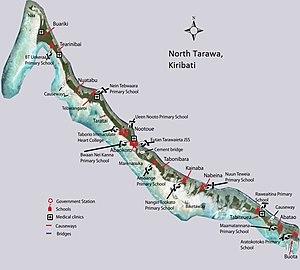 North Tarawa - Map of North Tarawa