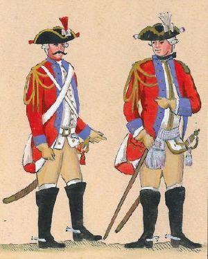Royal Guards (Poland) - Polish Crown Regiment, 18th century