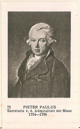 Brest Affair - Pieter Paulus, the fiscaal who led the prosecution in the admiralty court