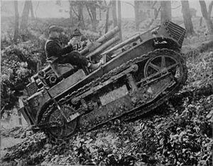 75 mm Gun M1916 - US 75mm Gun M1916 on self-propelled carriage