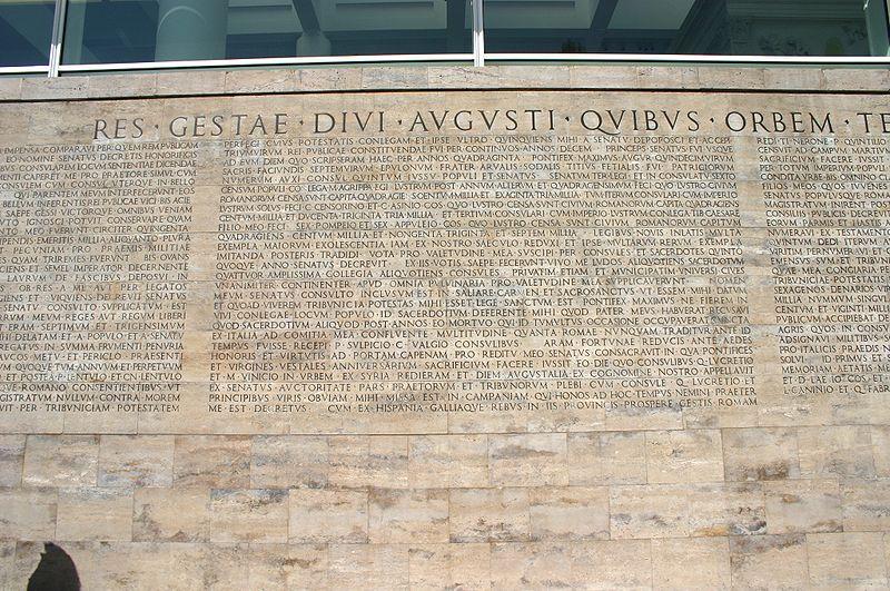 File 8163 roma testo monumentum ancyranum presso ara - Res gestae divi augusti ...