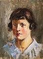 81 - Jeune fille aux macarons - Luce Boyals - Huile sur toile - Musée du Pays rabastinois inv.2004.5.23.jpg