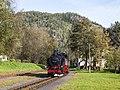 99 787, Германия, Саксония, станция Курорт Ойбин (Trainpix 142924).jpg