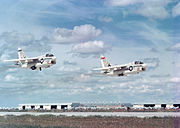 A-7As VA-147 taking off from NAS Lemoore 1967