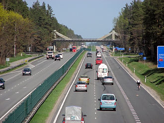 A2 road (Latvia) - Image: A2 Bergi Ped Bridge