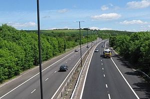 A48(M) motorway - Eastbound heading towards junction 29