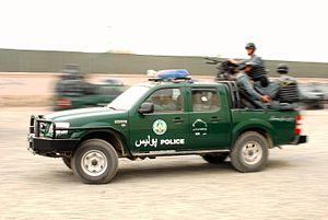 Law enforcement in Afghanistan - ANP Ford Ranger