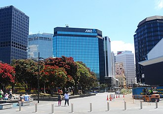 ANZ Bank New Zealand - ANZ building at 1 Victoria St in Wellington