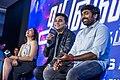 AR Rahman, Vijay Sethupathi, Andrea Jeremiah at the 'Marvel Anthem' Launch.jpg
