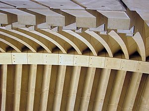 "Articulation (architecture) - Ribs under the ""wings"" of Sydney Opera House"