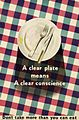 A Clear Plate Means a Clear Conscience - Don't Take More Than You Can Eat Art.IWMPST2814.jpg