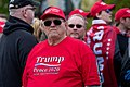 A Trump supporter waits to get into Trump's Rally at the Mayo Civic Center in Rochester Minnesota (31234361088).jpg