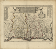 A mapp of ye improved part of Pensilvania in America, divided into countyes townships and lotts