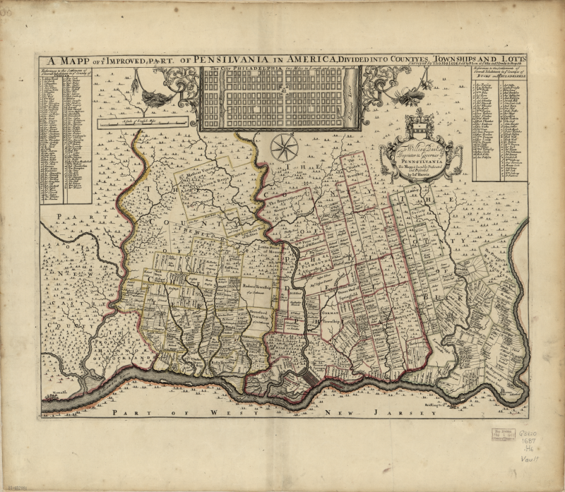 A mapp of ye improved part of Pensilvania in America, divided into countyes townships and lotts.png