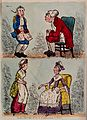 A mother and a father, each telling off their respective off Wellcome V0038787.jpg
