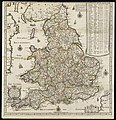 A new map of England and Wales with the direct and cros roads also the number of miles between the townes on the roads by inspection in figures (8642553745).jpg