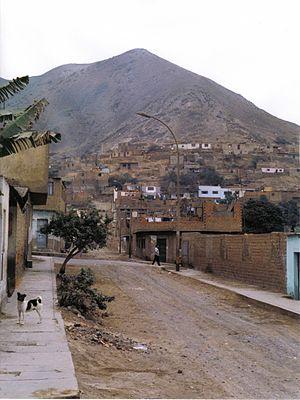 Comas District, Lima - A street in Comas in 1993