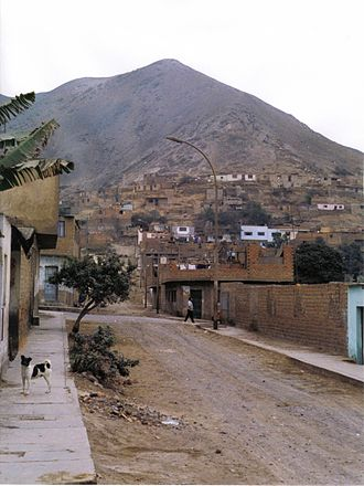 Comas District, Lima - A street in Comas in 1993