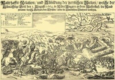 A szentgotthárdi csata (német kép)