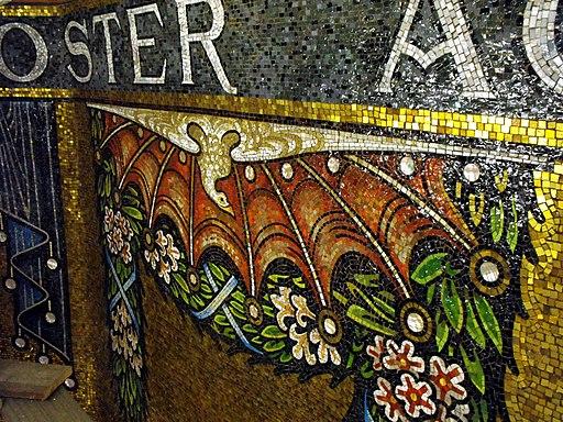 Aachen Dom Kuppelmosaik Detail 2