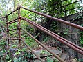 Abandoned stairs at former Brattle station, July 2015.JPG