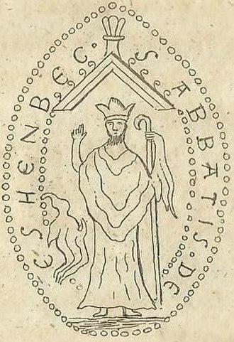 Essenbæk Abbey - Image: Abbed Jonas af Essenbæk Kloster's segl