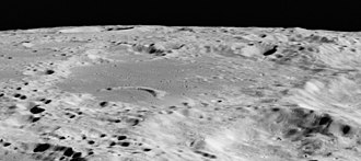 Abel (crater) - Oblique view facing south from Apollo 15