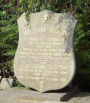 Grave of William and Catherine Booth in Stoke Newington