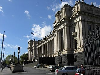 Parliament House, Canberra - Parliament House, Melbourne, was home to Federal Parliament for 26 years from 1901 to 1927.