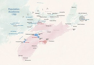 Acadia - Main Acadian communities of Acadia before the deportation