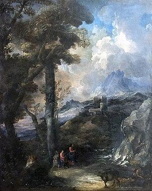 Marco Ricci - Image: Accademia Paesaggio con viandanti Marco ricci (cerchia)