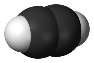 Alkyne acyclic hydrocarbon with one triple bond between carbon atoms