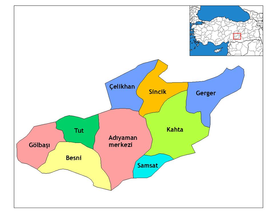Adıyaman districts