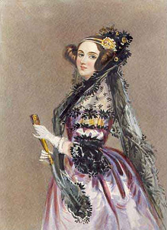Ada Lovelace is often credited with publishing the first algorithm intended for processing on a computer. Ada lovelace.jpg