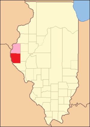 Adams County, Illinois - Image: Adams County Illinois 1825