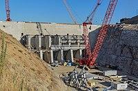 Addicks and Barker dams project team visits Folsom Dam auxiliary spillway (15095129558).jpg