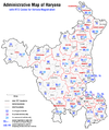 Administrative map of Haryana with RTO codes for vehicle registration.png