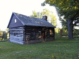 National Register of Historic Places listings in Essex County, New York - Image: Adsit Log House in Willsboro Point