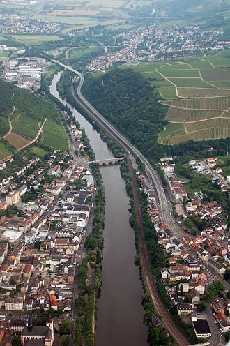 Nahe (Rhine) - Lower river course near Bingen