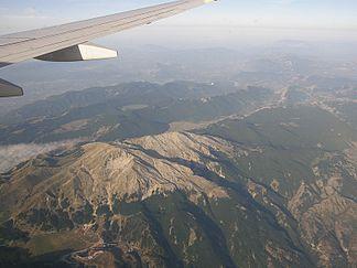 Apennin aus der Luft betrachtet