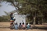 African teacher teaching under a tree.jpg
