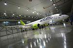 AirBaltic Bombardier CS300 mainenance (33221397065).jpg