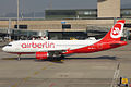 Air Berlin (operated by Belair), HB-IOZ, Airbus A320-214 (16270777557).jpg