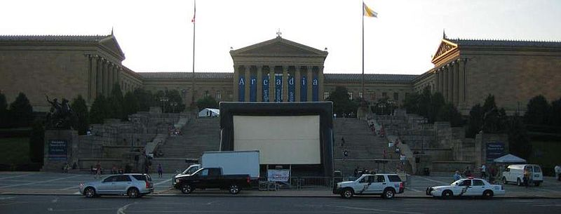 File:Air Screen Outdoor Drive-in movie theater screen wwwLaserLightShowORG featuring the movie Rocky at the Philadelphia Museum of Art.jpg